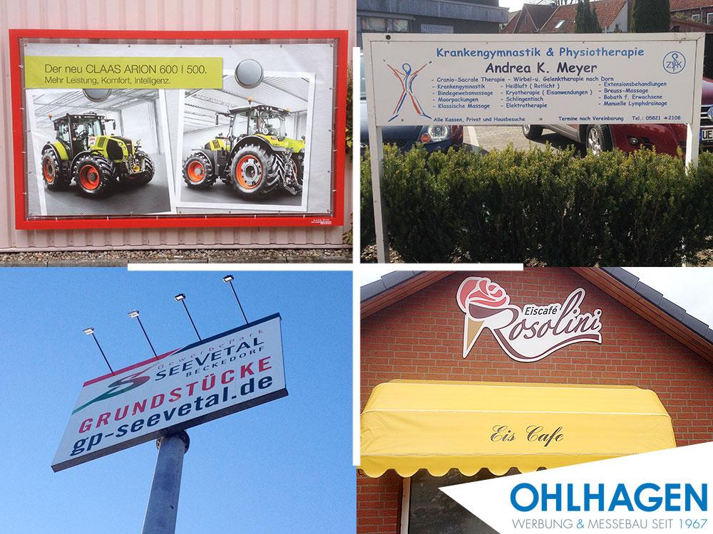 Ohlhagen – Werbung & Messebau seit 1967: Fassadenschilder, Werbeschilder, Folientexte, Digitaldrucke, Werbebanner u.v.m.